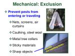 mechanical exclusion
