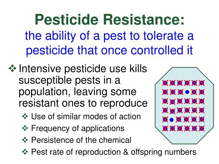 Pesticide Resistance: