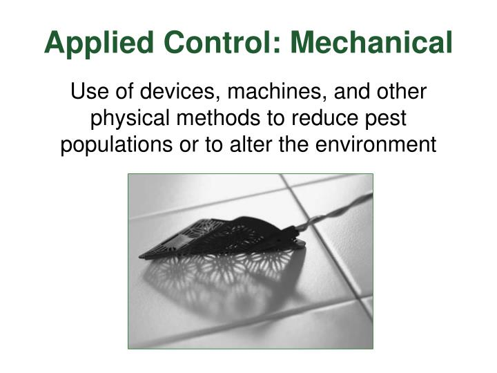 Applied Control: Mechanical