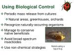using biological control