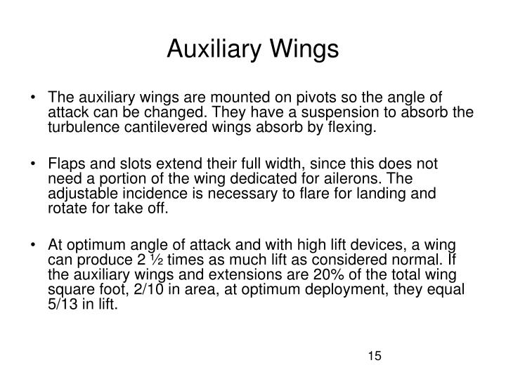 Auxiliary Wings