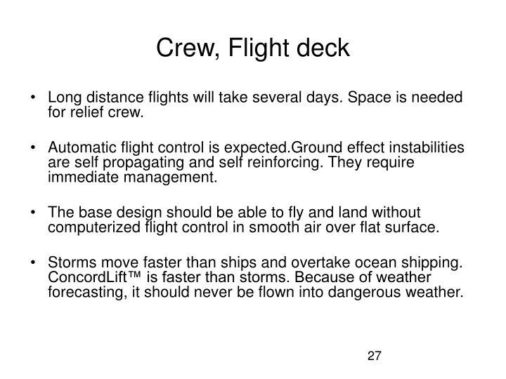 Crew, Flight deck