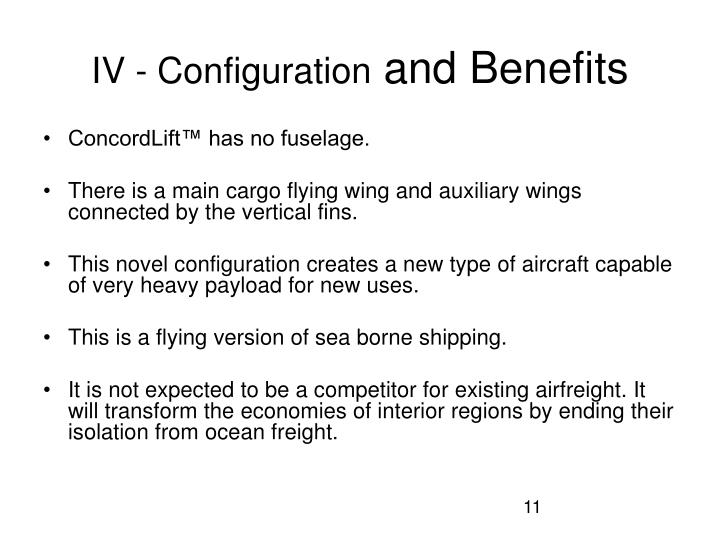 IV - Configuration