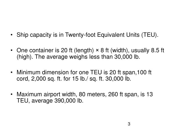 Ship capacity is in Twenty-foot Equivalent Units (TEU).