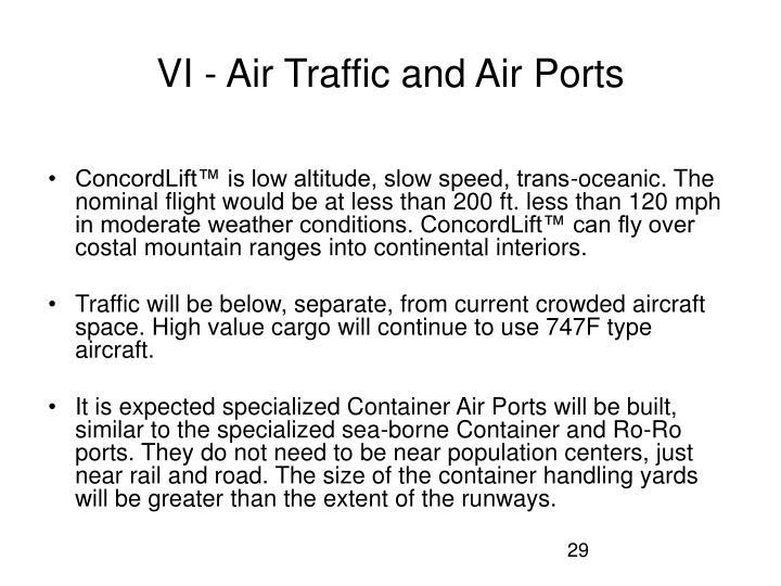 VI - Air Traffic and Air Ports