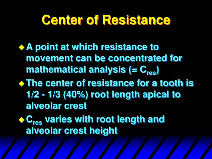 Center of Resistance