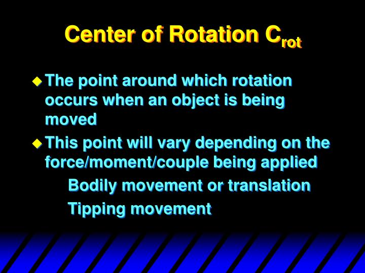 Center of Rotation C