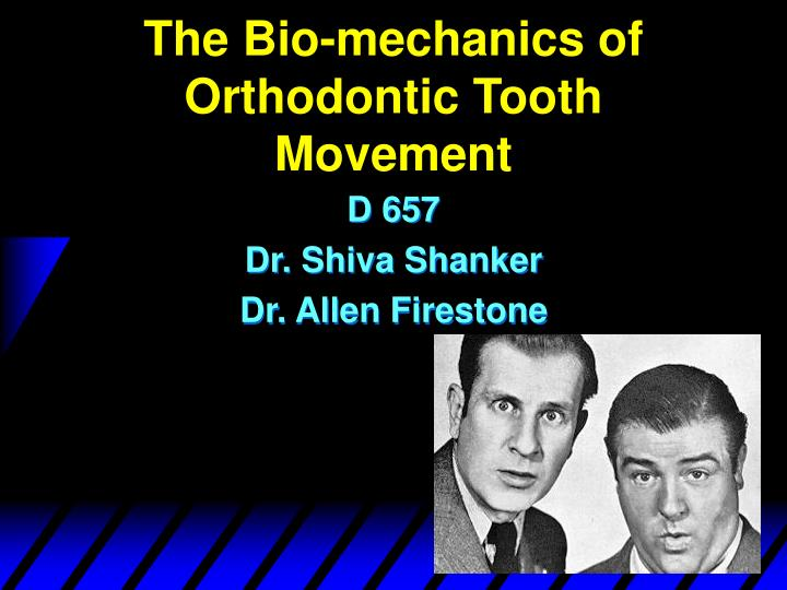 The bio mechanics of orthodontic tooth movement