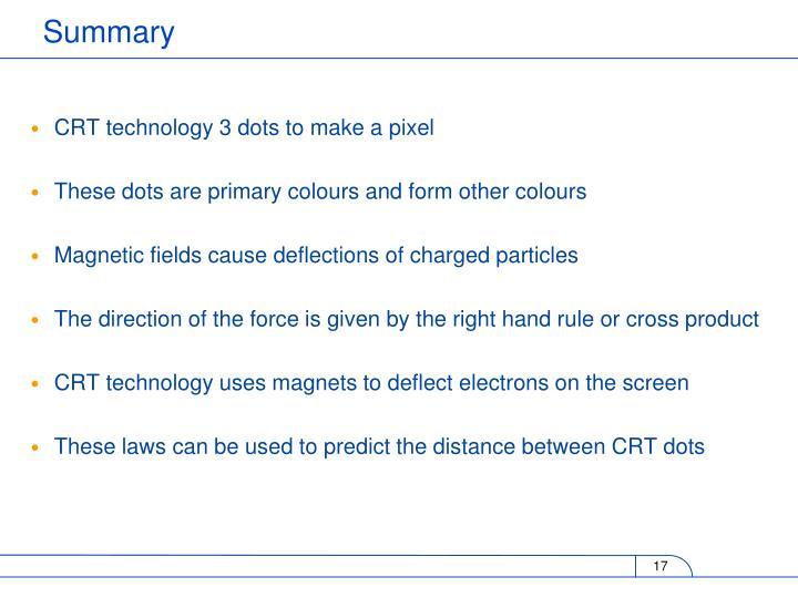 CRT technology 3 dots to make a pixel