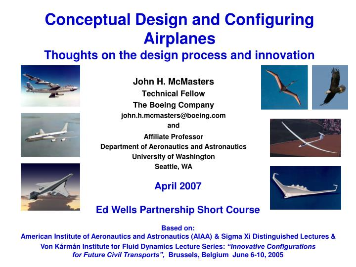Conceptual Design and Configuring Airplanes