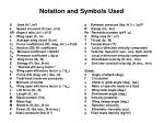 notation and symbols used
