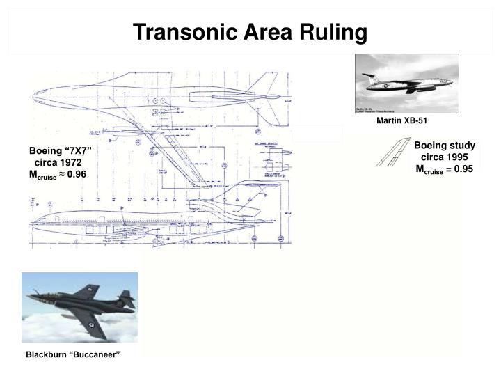Transonic Area Ruling