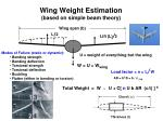 wing weight estimation based on simple beam theory