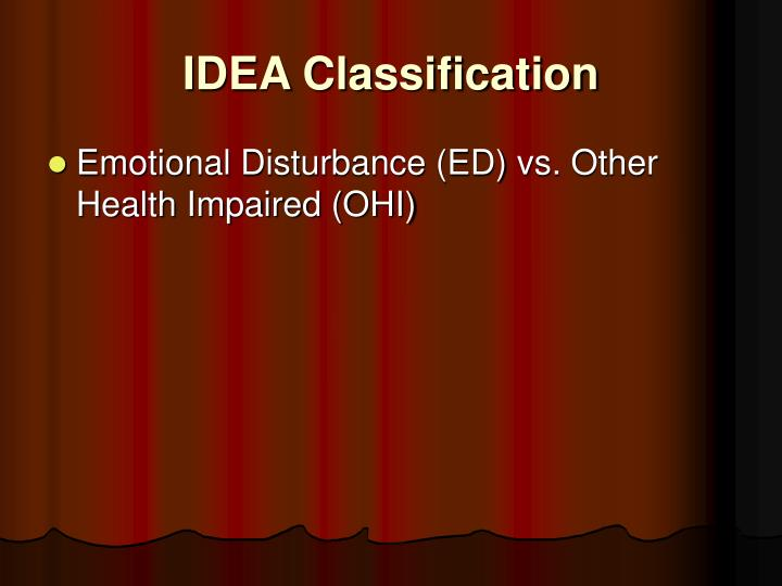 IDEA Classification