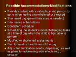 possible accommodations modifications
