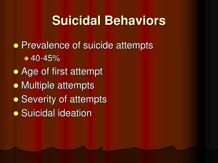Suicidal Behaviors