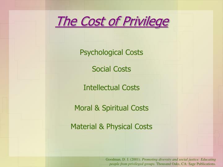 The Cost of Privilege