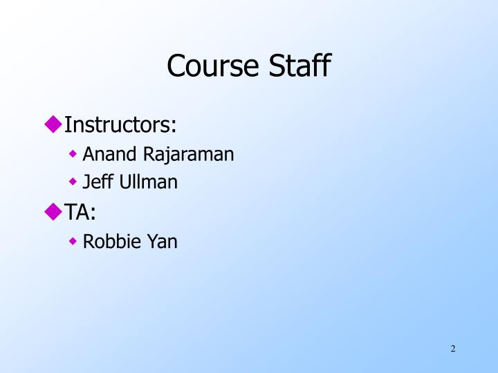 Course staff