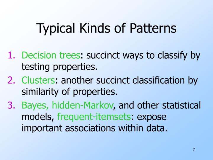 Typical Kinds of Patterns