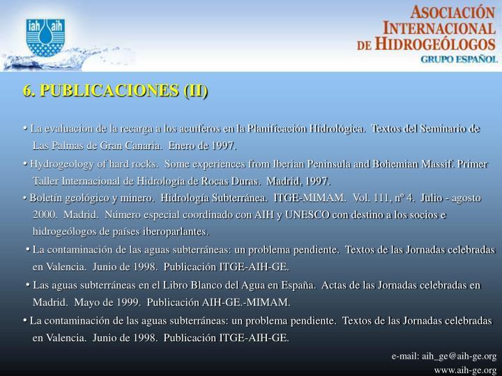 6. PUBLICACIONES (II)