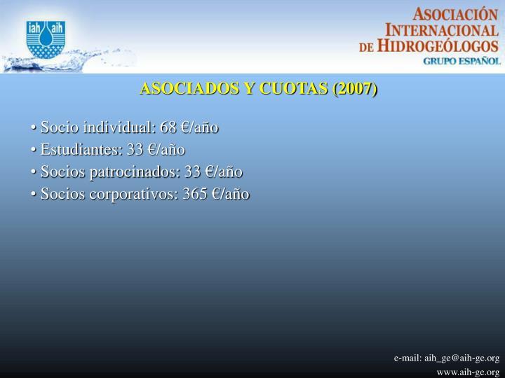ASOCIADOS Y CUOTAS (2007)