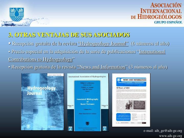 3. OTRAS VENTAJAS DE SUS ASOCIADOS