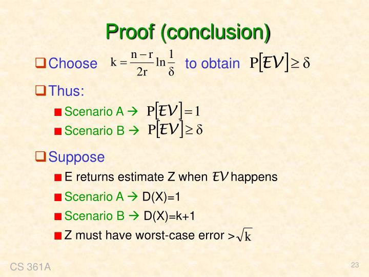 Proof (conclusion)