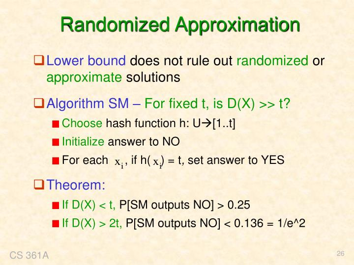 Randomized Approximation