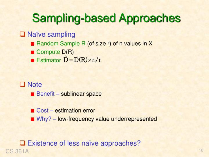 Sampling-based Approaches