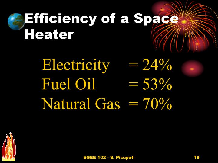 Efficiency of a Space Heater