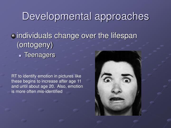 Developmental approaches