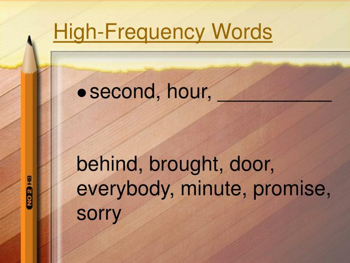 High-Frequency Words