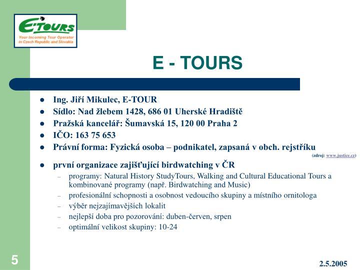 E - TOURS