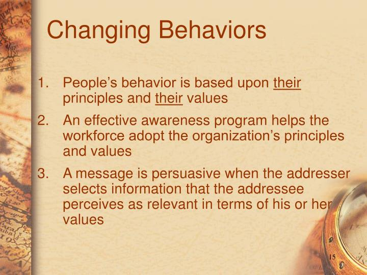 Changing Behaviors