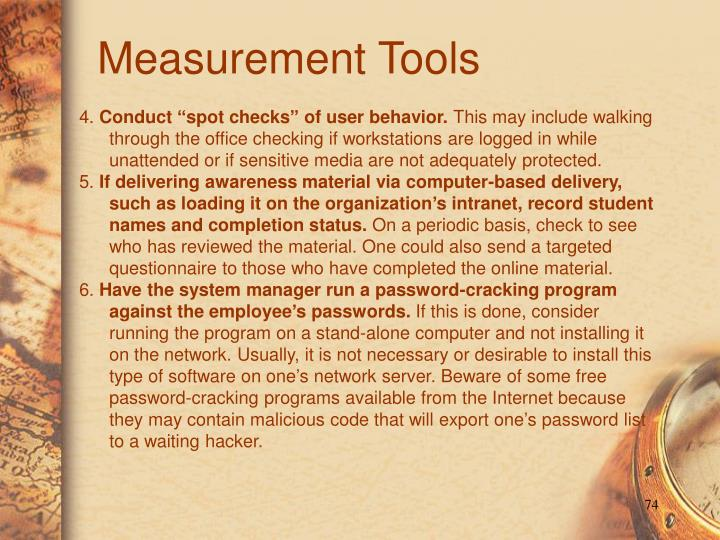 Measurement Tools