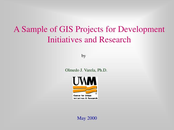 A sample of gis projects for development initiatives and research