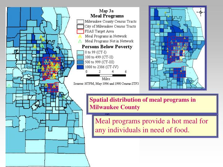 Spatial distribution of meal programs in Milwaukee County