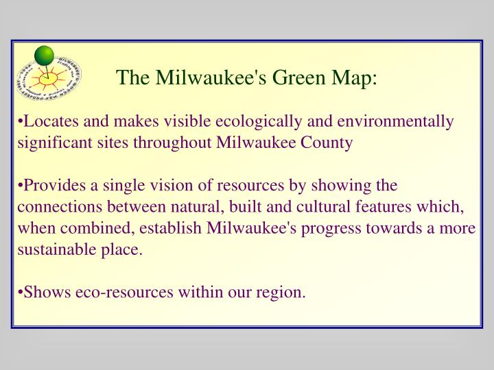 The Milwaukee's Green Map: