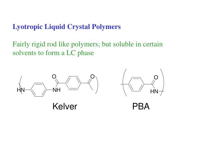 Lyotropic Liquid Crystal Polymers