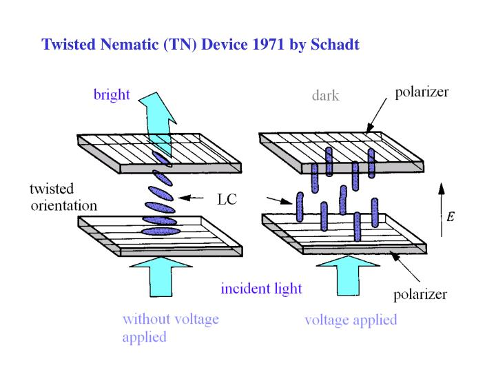 Twisted Nematic (TN) Device 1971 by Schadt