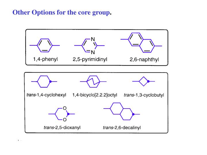 Other Options for the core group