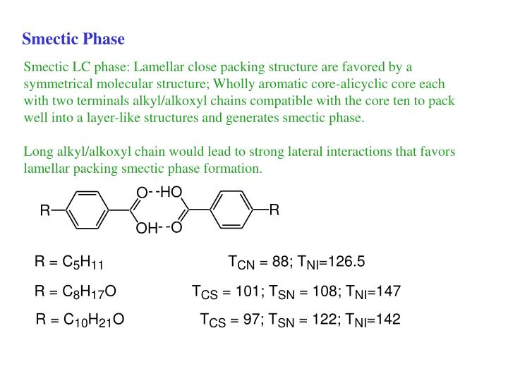 Smectic Phase