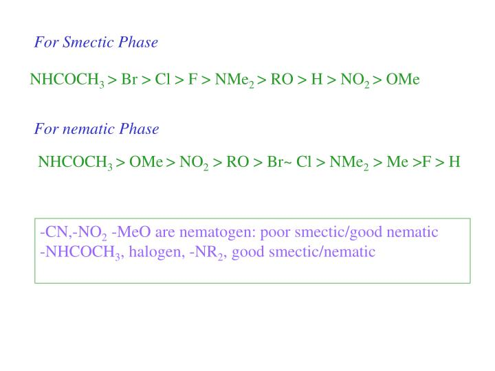 For Smectic Phase
