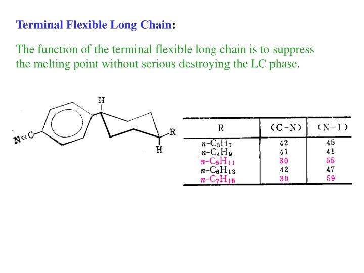 Terminal Flexible Long Chain