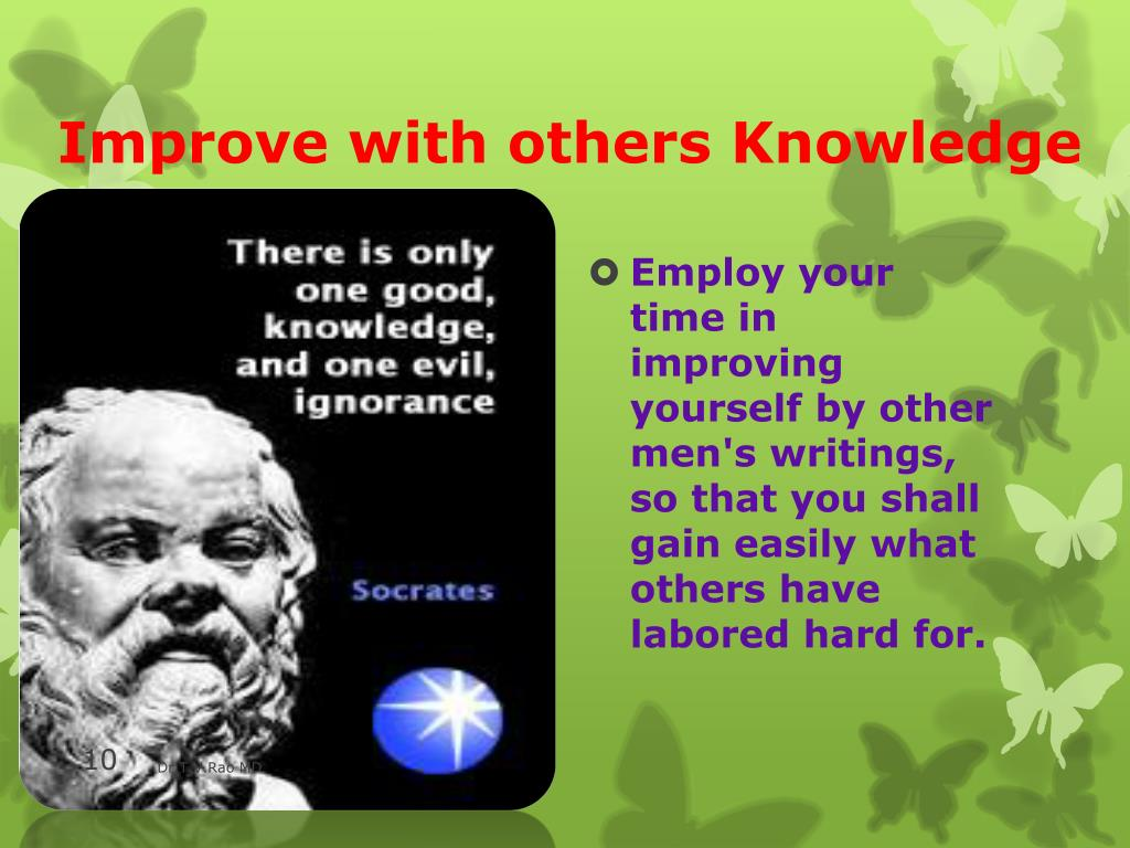 Improve with others Knowledge