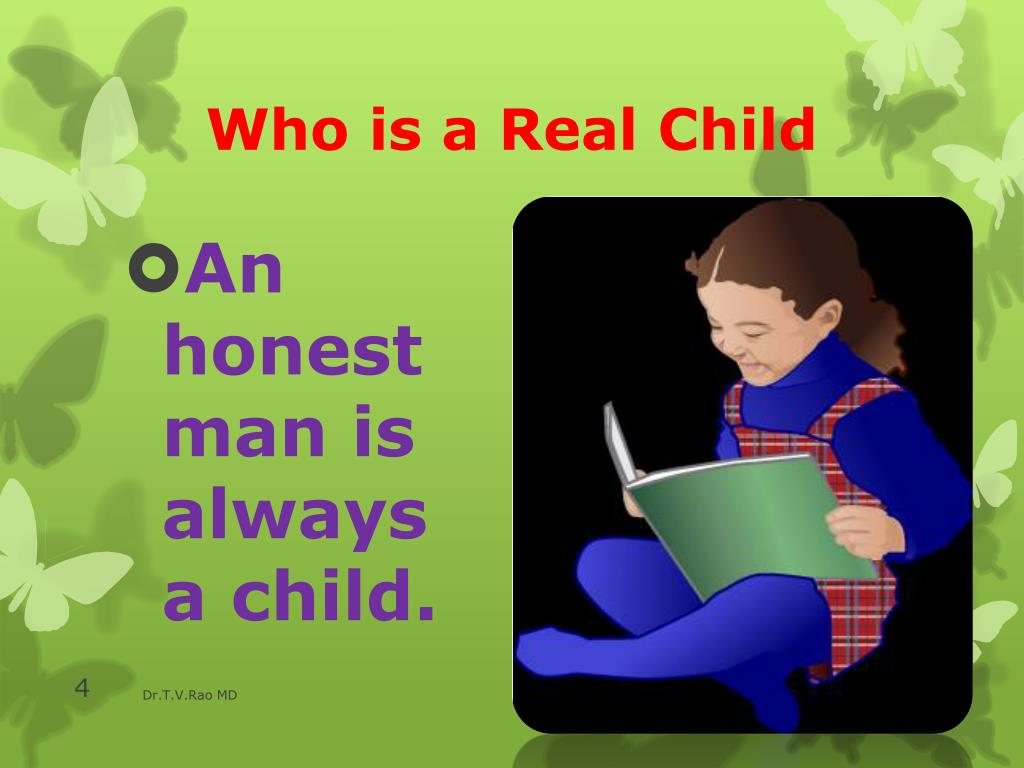 Who is a Real Child