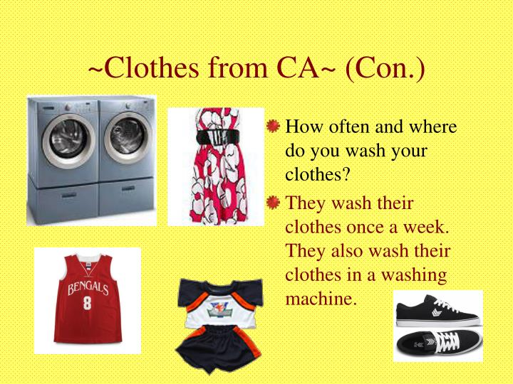 ~Clothes from CA~ (Con.)
