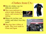 clothes from ca