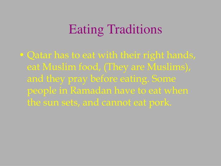 Eating Traditions
