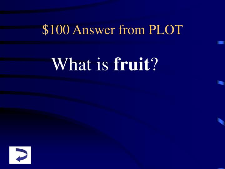 $100 Answer from PLOT